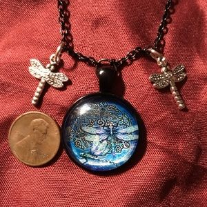 """Moonlight Dragonfly Necklace 20"""""""